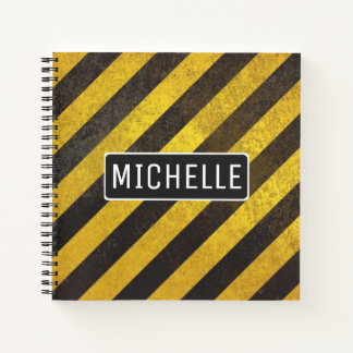 Personalized Caution Notebook