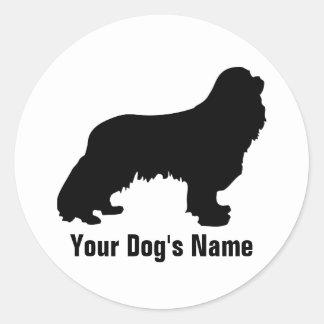 Personalized Cavalier King Charles Spaniel キャバリア Classic Round Sticker