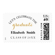 PERSONALIZED CELEBRATE GRADUATION PARTY POSTAGE