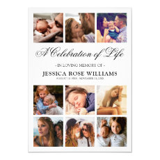 Personalized Celebration of Life Funeral Invitation