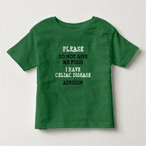 Personalized Celiac Disease Alert Shirt