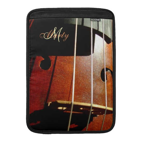 Personalized Cello Music MacBook Air Sleeve