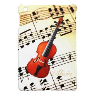 Personalized Cello or Violin Sheet Music Case iPad Mini Cover