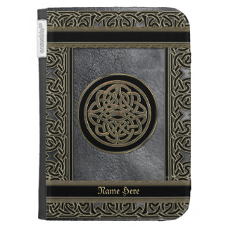 Personalized Celtic Leather and Metal Chain Case Case For Kindle