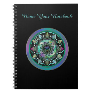 Personalized Celtic Mandala with Mystical Symbols Note Book