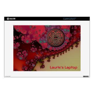 Personalized Celtic Red Gold Monogrammed Skin Laptop Skins
