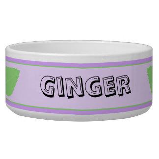 Personalized Ceramic Cat Bowl