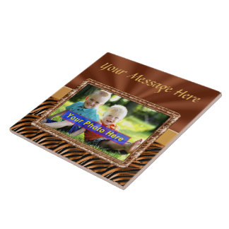 Personalized Ceramic Photo Trivet with YOUR PHOTO Ceramic Tile