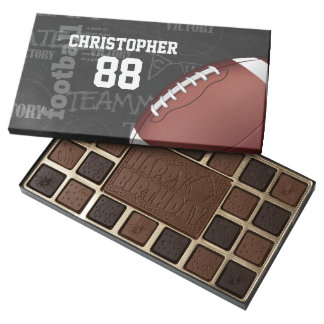 Personalized Chalkboard American Football Assorted Chocolates