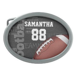 Personalized Chalkboard American Football Belt Buckle