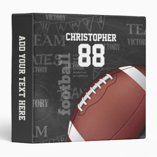 Personalized Chalkboard American Football Binder