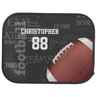 Personalized Chalkboard American Football Car Mat