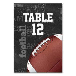 Personalized Chalkboard American Football Card