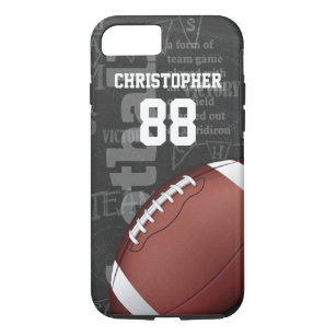 promo code 498f3 8d2bf Personalized Chalkboard American Football iPhone 8/7 Case