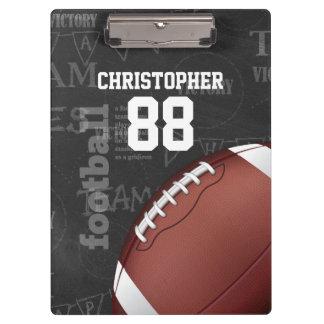 Personalized Chalkboard American Football Clipboard