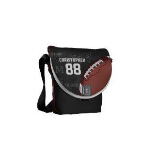Personalized Chalkboard American Football Courier Bag