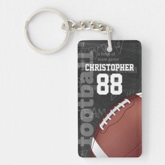 Personalized Chalkboard American Football Double-Sided Rectangular Acrylic Keychain