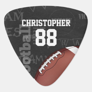 Personalized Chalkboard American Football Guitar Pick