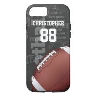 Personalized Chalkboard American Football iPhone 7 Case