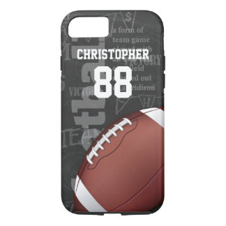 Personalized Chalkboard American Football iPhone 8/7 Case