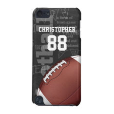 Personalized Chalkboard American Football Ipod Touch 5g Case at Zazzle