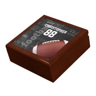 Personalized Chalkboard American Football Jewelry Box