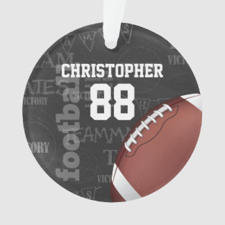 Personalized Chalkboard American Football Ornament