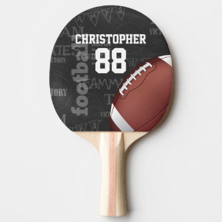 Personalized Chalkboard American Football Ping Pong Paddle