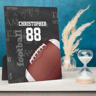 Personalized Chalkboard American Football Plaque