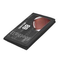 Personalized Chalkboard American Football Trifold Wallet