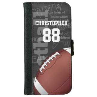 Personalized Chalkboard American Football Wallet Phone Case For iPhone 6/6s