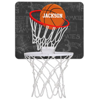 Personalized Chalkboard Basketball and Hoop