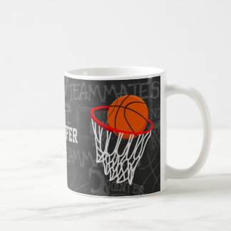 Personalized Chalkboard Basketball and Hoop Coffee Mug
