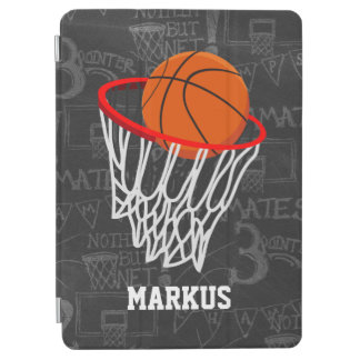 Personalized Chalkboard Basketball and Hoop iPad Air Cover