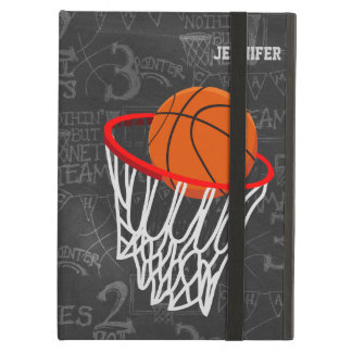 Personalized Chalkboard Basketball and Hoop Case For iPad Air