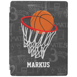 Personalized Chalkboard Basketball and Hoop iPad Cover