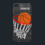 "Personalized Chalkboard Basketball and Hoop iPod Touch 5G Cover<br><div class=""desc"">Personalized basketball and hoop design on a dark and light gray chalkboard design background with a pattern of basketball terms. Just customize the name to add the name of the basktball fan, basketball player or basketball coach. Ideal for netball players too! We welcome custom requests. Please contact us via our...</div>"