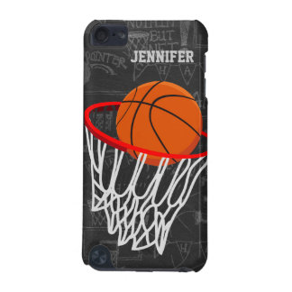 Personalized Chalkboard Basketball and Hoop iPod Touch 5G Cover