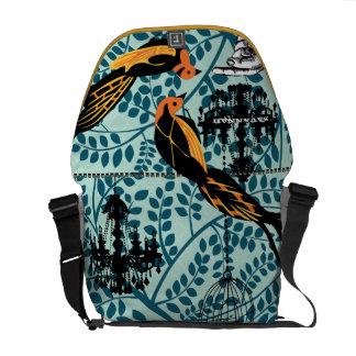 Personalized Chandelier Vintage Bird Birdcage Courier Bag