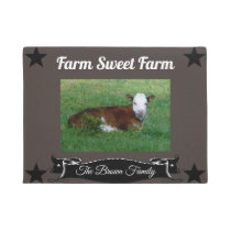 Personalized Changeable Name Farm Sweet Farm Doormat