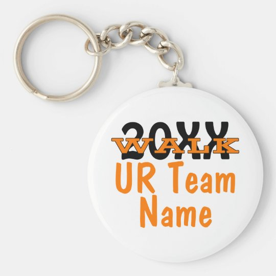 Personalized Charity Walk Keychain