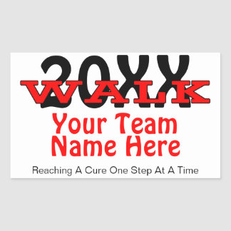 Personalized Charity Walk Sticker