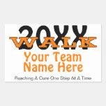 Personalized Charity Walk Sticker