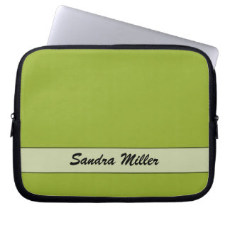 Personalized Chartreuse Green Computer Sleeves