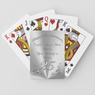Personalized Cheap 25th Wedding Anniversary Gifts Playing Cards
