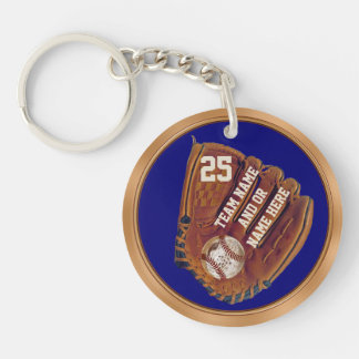 Personalized Cheap Baseball Gifts and Party Favors Keychain