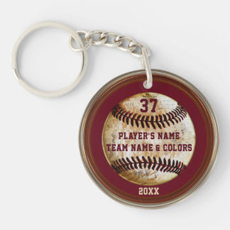 Personalized Cheap Baseball Gifts for Boys Keychain