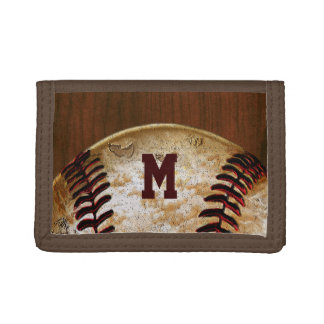 Personalized Cheap Baseball Team Gifts Trifold Wallet