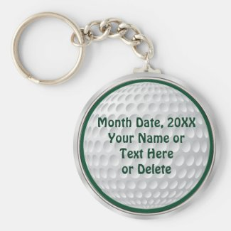 Personalized Cheap Golf Gifts Basic Round Button Keychain