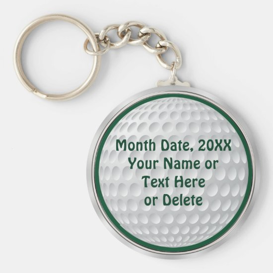 Personalized Cheap Golf Gifts Keychain